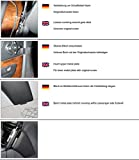 KUDA 091685 Halterung Kunstleder schwarz für Mercedes E-Klasse (W211/S211) ab 03/2002 bis 02/2009