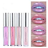 Eyret Glitter Liquid Lipstick High Pigments Silky Lip Gloss Moisturizing 24 Hours Stay Lip Color Beauty Makeup for Women and Girls (Nude4#)