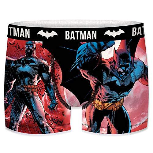 FREEGUN Herren T422-1-s Batman Unit Boxer, von DC COMICS-Mikrofaser-92% Polyester, 8% Elasthan, Mehrfarbig, S