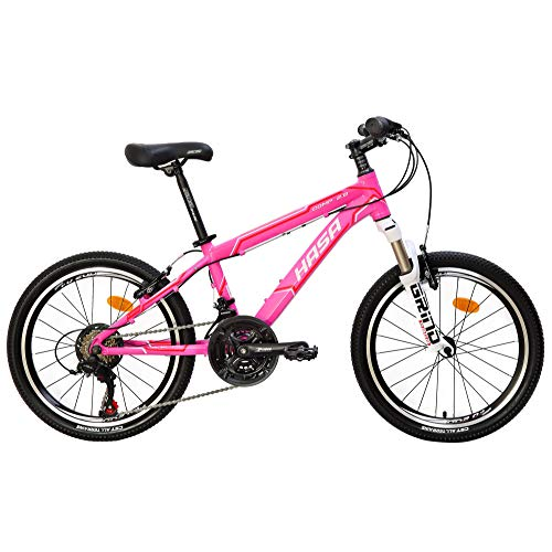 CyclingDeal Bicycle Girls Kids Mountain Bike Shimano 18 Speed 20' Wheels 12' Frame Pink