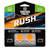 KontrolFreek Rush para Xbox One y Xbox Series X/S | Performance Thumbsticks | 2 Alturas medias, cóncavo | Naranja / Blanco.