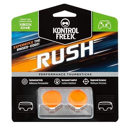 KontrolFreek Rush Performance Thumbsticks für Xbox One | Performance Thumbsticks | 2 x Mittel, Konkav | Orange/Weiß