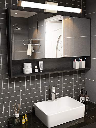 YHTlaeh Bathroom Vanity Light Brushed Nickel Square LED 33.5 inch 18W White -