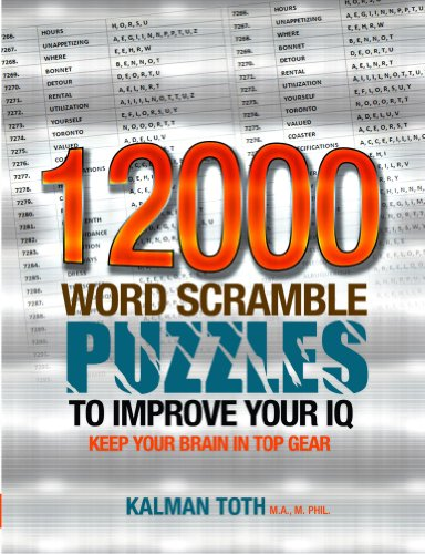 12000 Word Scramble Puzzles to Improve Your IQ (English Edition)