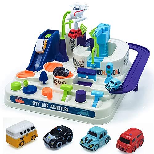 ToyCars,CarsToys,RaceTracksforBoys-Toysfor345678YearOldBoysGirls,CarAdventureCityRescuePreschoolEducationalToyVehiclePuzzleCarTrackPlaysetsforToddlersKidsGifts