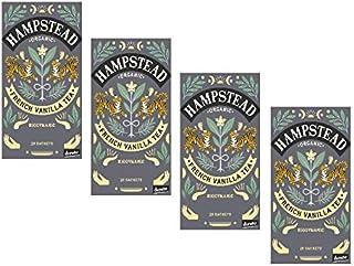 Hampstead Bio- und Biodynamischer Schwarztee mit Vanille - 4 x 20 Teebeutel 160 Gramm