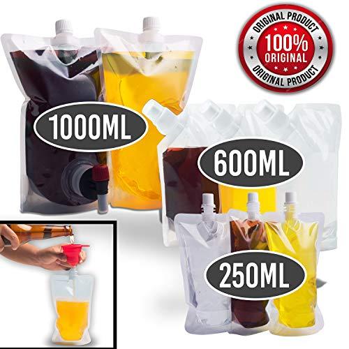 Sneaky Flask Cruise Kit   Schmuggel Alkohol überall!   Sneak Schnaps, Schnaps, Rum und mehr   8 nicht erkennbare versenkbare Plastikbeutel