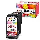 INKMAKE 546 Color Repuesto para Canon CL-546XL Cartuchos de Tinta Compatible con Canon Pixma MG3051 MG2550S MG2450 MX495 MG3050 MG2950 IP2850 MG2500 MG3052 MG3053 MG2950S MG2900 MG2955 MX490 iP2840