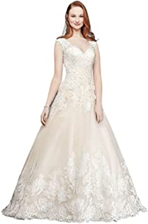 Sample: As-is Scalloped V-Neck Tulle Wedding Dress Style AI10012594