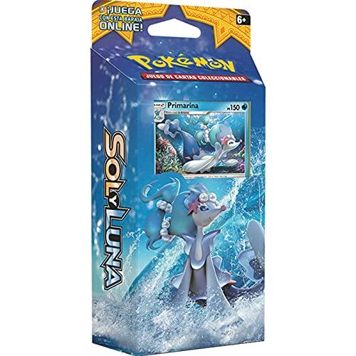 Cartas Pokémon Sol y Luna Baraja Temática Caja de 60 Cartas Pokémon, Juego de Cartas Coleccionables Pokémon Serie Sol y Luna Baraja Temática, Cartas Pokémon en Castellano (Marea Luminosa)