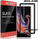 MASCHERI Protector de Pantalla Compatible para Samsung Galaxy Note 9 3D Cobertura Completa Marco de posicionamiento Vidrio Templado Compatible para Samsung Galaxy Note 9 Cristal Templado Negro