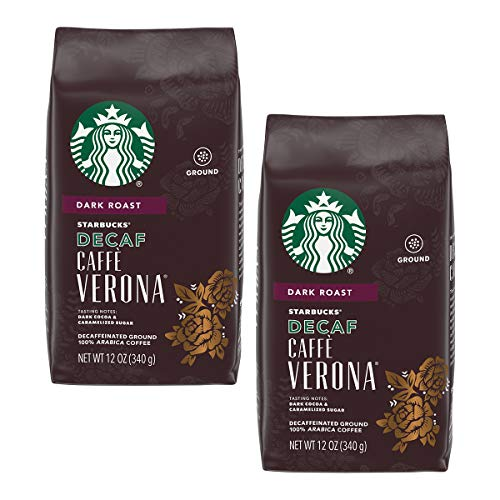 Starbucks Decaf Ground Coffee, Caffe Verona, 12 OZ