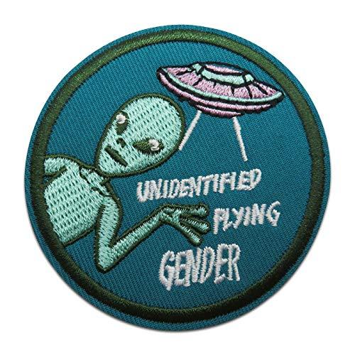 Finally Home Unidentified Flying Gender UFO Alien strijkplaatje patch om op te strijken | patches, opstrijkmotieven