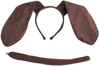 3PCs Kids Funny Rabbit Pig Wolf Kangaroo Zebra Costume Headband with Tail Tie