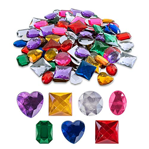 Super Z Outlet 1' Assorted Colorful Adhesive Stick-On Heart Star Round...