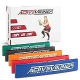 ActiveVikings Bandas de Fitness de Tela en Juego de 5 – Ideal para Desarrollo Muscular, Gimnasia y Crossfit – Bandas de Resistencia – Bandas de Resistencia