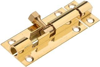 HOMYL Brass Door Slide Catch Lock Bolt Latch Barrel Home Safety Hardware with Screws - #2 2inch