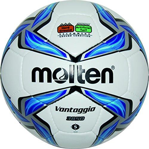 molten Fußball F5V3850, Weiß/Blau/Silber, 5, F5V3850