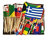 Box of 100 Different World Flags Country Flags Toothpick Flags Perfect for the Olympics WindStrong®