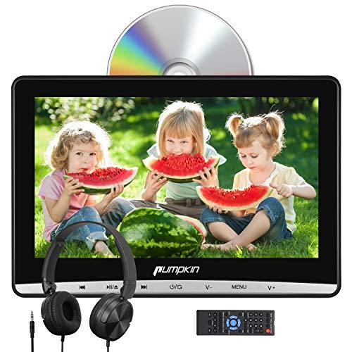 Pumpkin 12 pollici Lettore dvd auto poggiatesta,con cuffie, supporto Regione free/ USB/ SD/ AV-in/ AV-out/ cavo AUX, 18 mesi di garanzia
