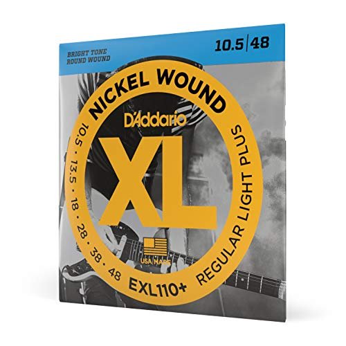 D'Addario EXL110 + Nickel Saiten für E-Gitarre, Regular Light Plus, (10.5-48)