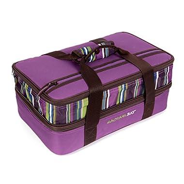 Rachael Ray Expandable Lasagna Lugger, Purple