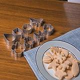 Set Di Stampi per Biscotti, 10 Pezzi Tagliabiscotti Pasquali in Acciaio inossidabile Lavabili per Adulti Cottura per Bambini