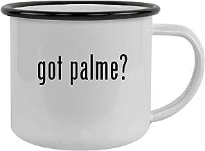 got palme? - Sturdy 12oz Stainless Steel Camping Mug, Black