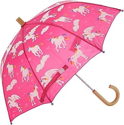 Hatley Girls' Little Printed Umbrellas, Rainbow Unicorns, One Size