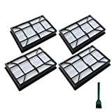 EZ SPARES Replacement for Kenmore,Ef-9 Vacuum Media Filter Hepa #53296#40195 by Kenmore(4PCS)
