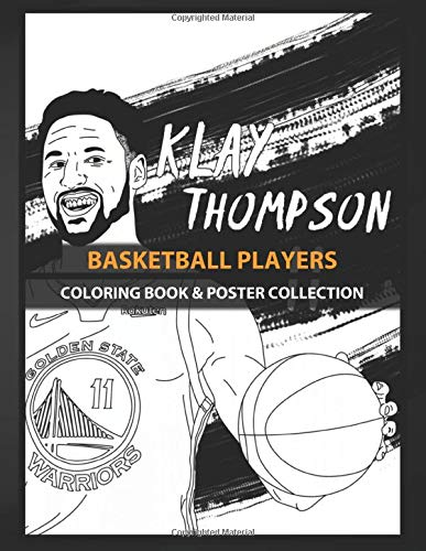 Coloring Book & Poster Collection: Basketball Players Hello I Make Line Art With The Klay Thompson Figure Anime & Manga