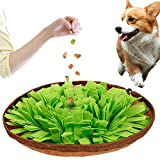 DC DCTOY Dog Feeding Mats Snuffle Mats, Dog Training Mats Dog Puzzle Toys, Nosework Blanket Pet Snuffle Bowl Cat Snuffle Mat for Cats Dogs,Activity Fun Play Mat for Relieve Stress Restlessness