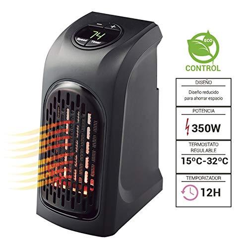 Thulos Calefactor de Enchufe, 350W, Pantalla Digital LED y Temporizador TH-PH10