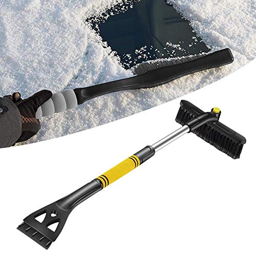 knowledgi - Cepillo de Nieve Extensible para Coche, rascador de Hielo, eliminador de Hielo extraíble para Invierno