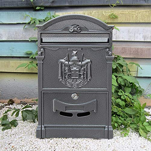 Brievenbus E-mailbox - verzinkt blik, Europees retro creatief slot met watervaste Villa Mailbox buitenshuis, geschikt voor landhuizen, binnenplaatsen, huizen - meerdere kleuren verkrijgbaar muurbrievenbussen 15#