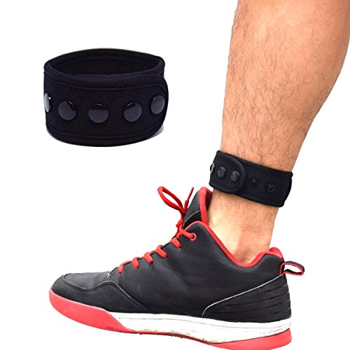 B-Great Ankle Band with Mesh Pouch for Men and Women Compatible with Fitbit Flex 2/Fitbit One/Fitbit Alta/Fitbit Charge 2 3/Misfit Ray/Fitbit Inspire HR Fitness Tracker (Black, Large)