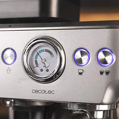 Cecotec Cafetera Cumbia Power Espresso 20 Barista Aromax. Potencia 2900 W, 2 Sistemas de Calentamiento, Bomba de presión de 20 Bares,manómetro, portafiltros con Doble Salida y 2 filtros