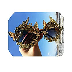 Rhinestone Oversize Round Sunglasses Vintage Butterfly Shades