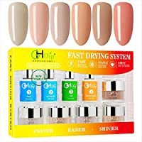 GHDIP Acrylic Nail Dip Powder Kit (6-Colors)