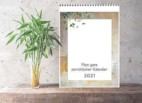 Foto-Malen-Basteln Bastelkalender und Fotokalender zum selbstgestalten A4 für 2021 - personalisierbar. Do-it-yourself Kalender. Kalender - Wandkalender - Geschenkkalender