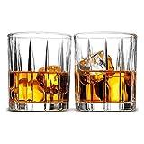 Copas de cóctel, Juego de decantores de whisky para hombres Conjunto de vidrio de whisky de 2, coctel de estilo europeo Aristocrático exquisito diseño de rayas de rayas Gafas de whisky, para alcohol d