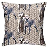 antkondnm Dog Weimaraners Polyester Throw Pillow Case, Decorative Square Cushion Cover