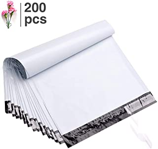 Fu Global 200pcs 14.5x19 Inches Poly Mailers Shipping Envelops Boutique Custom Bags Enhanced Durability Multipurpose Envelopes Keep Items Safe Protected(White)