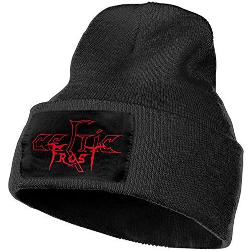 Celtic Frost Skull Beanie Hats Unisex Knit Hats Winter Warm Soft Ski Hat Black