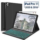 Funda con teclado para iPad Pro 11 2020/2018, Boriyuan Folio Smart Cover compatible con Apple...