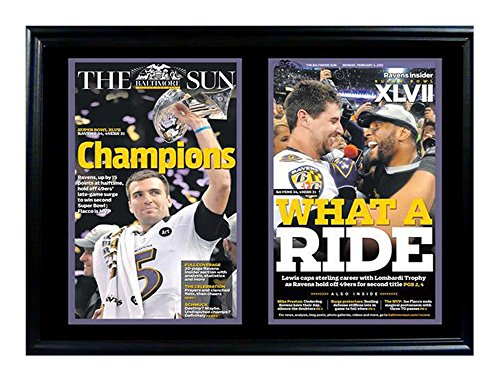 Encore Select 117-05 NFL Baltimore Ravens Double Frame Super Bowl XLVII Champions Print, 12-Inch by 18-Inch