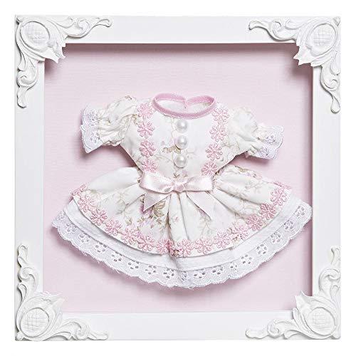 Quadro com Acrílico Menina Vestido, Quarto Bebê Infantil Menina, Potinho de Mel, Rosa