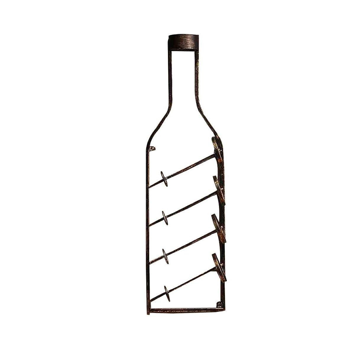 存在項目マニアSHINAHUATONG アイアン ワインラックウォールマウント ワインボトル形状 ワイン ディスプレイ スタンドホルダー 耐久性 家の装飾のためのスーツ