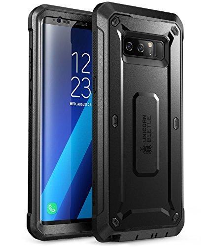 SUPCASE Hülle für Samsung Galaxy Note 8 Handyhülle 360 Grad Bumper Hülle Stoßfest Schutzhülle Cover [Unicorn Beetle PRO] mit Gürtelclip & eingebautem Bildschirmschutz, Schwarz