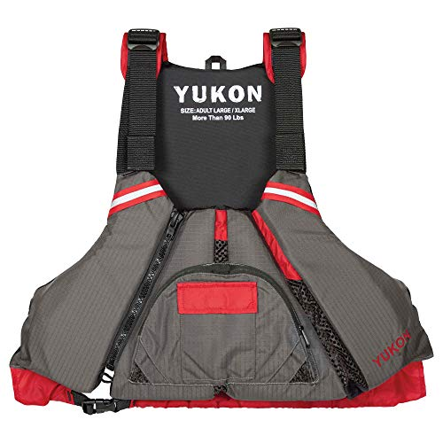 Yukon Charlie's Sport Paddle Life Vest, Carbon/Deep...